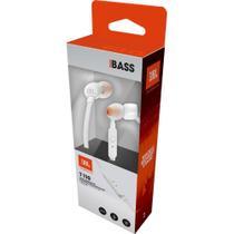 Fone de Ouvido JBL T110WHT Branco Com Microfone -