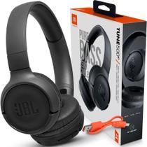 Fone De Ouvido Jbl Tune 500Bt Original Sem Fio Bluetooth Headphone com Microfone Preto -
