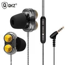 Fone De Ouvido Kd7, Retorno De Palco e Musicas, P2, Duplo Drivers + Case - Qkz