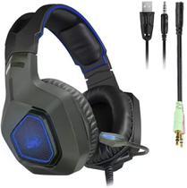 Fone De Ouvido Knnup Headset Gamer P3 Cabo Longo -