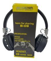 Fone De Ouvido Magena - Sem Fio Bluetooth - B 09 Headset -