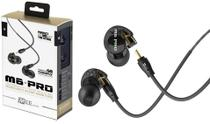 Fone de Ouvido Mee Audio M6 Pro Black In Ear com Cabo Destacável, Bag e Diversos Plugs -