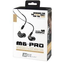 Fone De Ouvido Mee Audio M6 Pro Black In Ear Com Cabo Destacável, Bag E Diversos Plugs -