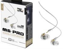 Fone de Ouvido Mee Audio M6 Pro Clear In Ear com Cabo Destacável, Bag e Diversos Plugs -