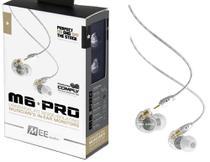 Fone de Ouvido Mee Audio M6 Pro Clear In Ear com Cabo Destacável, Bag e Diversos Plugs -