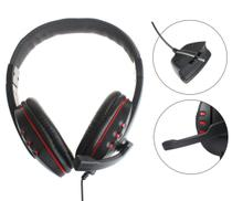 Fone De Ouvido + Microfone Xbox 360 Headset Preto + Vermelho - Techbrasil
