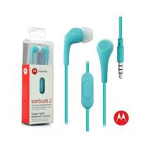Fone De Ouvido Motorola Estereo Earbuds 2 In Ear Intra-Auricular Com Microfone - Azul Claro -