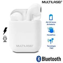 Fone De Ouvido Multilaser PH326 Bluetooth TWS Airbud Branco -
