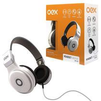Fone de Ouvido OEX Groove HP102, P2 de 3.5mm, Branco - Dobrável, C/ Microfone -
