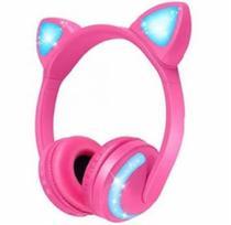 Fone de Ouvido Orelha de Gatinha com 7 cores LED Headphone Bluetooth P2 - Xls