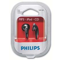 Fone de Ouvido P2 Earbuds Philips Preto SHE1360/55 com 6 Unidades -