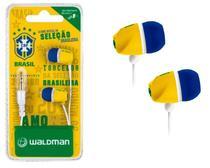 Fone De Ouvido Par Auricular Seleção Brasileira Waldman -