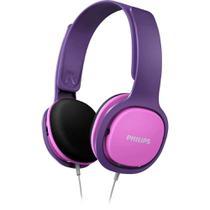 Fone de Ouvido para Criança Philips SHK2000 Rosa Infantil com Limitador de Volume 85dB SHK2000PK -