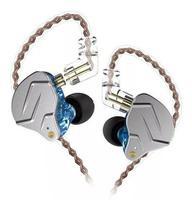 Fone De Ouvido Profissional In Ear Dual Driver KZ ZNS Azul -