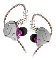 Fone De Ouvido Profissional In Ear Dual Driver KZ ZNS Rosa -