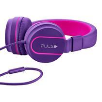 Fone de Ouvido Pulse PH161 Over Ear Wired Stereo Áudio Roxo -