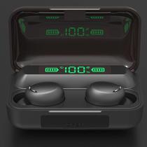 Fone de Ouvido Sem Fio Ipudis TWS Bluetooth 5.0 Longa Bateria + Powerbank - F9