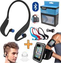 Fone De Ouvido Sem Fio Sport Mp3 Radio Fm Bluetooth Celular Universal Cartão Sd Original Corrida Caminhada Suporte Braço - Leffa Shop