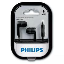Fone De Ouvido She1405bk Preto Com Microfone Philips -