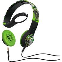 Fone de Ouvido Skullcandy Headphone Preto com Verde Cassette BFO-118 -