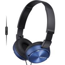 Fone de Ouvido Sony MDR-ZX310AP Azul Preto Headphone Dobrável Headset Com Microfone Integrado -