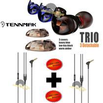 Fone de ouvido Tennmak TRIO 4 drives(2L e 2R) - Professional In-Ear - Cabo extra -
