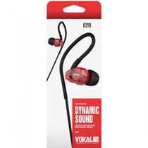 Fone de Ouvido Vokal E20 In Ear Dynamic Sound Vermelho -