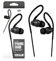 Fone de Ouvido Vokal In Ear E20 Black Plug Stereo Controle de Volume e Compatível com Smartphones -