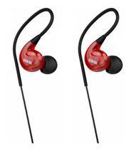 Fone de Ouvido Vokal In Ear E40 Red Extra Bass Plug Stereo com Ganho de Graves e Volume -