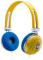 Fone de Ouvido Waldman Seleção Brasileira SG-10-CBF/YL Amarelo com Isolamento e Driver 40mm -