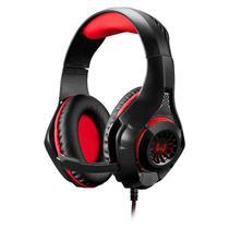 Fone De Ouvido Warrior Headset Led Vermelho PH219 Rama P2USB Multilaser -