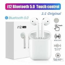 Fone Earphone Bluetooth 5.0 i12 Tws com Touch Atendimento -