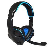 Fone Gamer Headset Com Microfone Azul Knup Para Pc/Ps3/Ps4 Kp-357