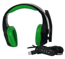 Fone Gamer Headset Com Microfone Knup Para Pc/Ps3/Ps4 Kp-366 Verde