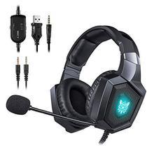 Fone Gamer Headset Led Onikuma K8 Rgb Ps4 Xbox Pc Telefone -