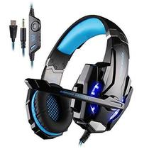 Fone Gamer Headset Ps4 Xbox Pc P2 Usb Kotion Each G9000 Azul