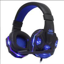 Fone Gamer KNUP KP-397 + Adaptador para ps4 Headfone Headset Gamer Pc para Celular Notebook tablet - Azul -