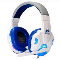 Fone Gamer KNUP KP-397 + Adaptador para ps4 Headfone Headset Gamer Pc para Celular Notebook tablet - Branco -