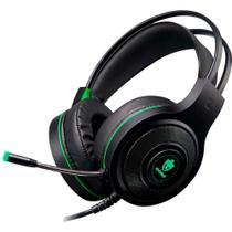 Fone Gamer Para Free Fire Com Adaptador para Celular Led Headset - Verde - Evolut