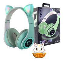 Fone Gatinho Sem Fio Bluetooth Infantil Gato Led Dobrável - ALTMOEX/HMASTON