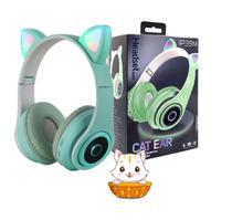 Fone Gatinho Sem Fio Bluetooth Infantil Gato Led Dobrável - XLS CAT EAR