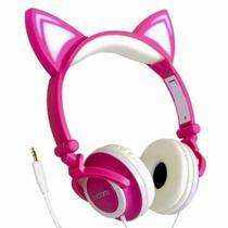 Fone Headphone Orelhas De Gatinho Led Com Fio P2 HF-C22 - Exbom