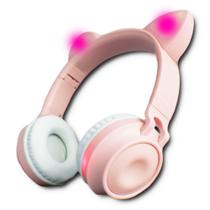 Fone Headphone Ouvido Orelha de Gato Bluetooth Led Coloridos - Hf-C290Bt