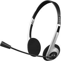 Fone Headset Com Microfone Ph-01si Prata - C3tech -