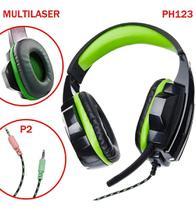 Fone Headset Gamer C/ Microfone P/ Pc Note Multilaser Ph123 -