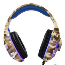 Fone Headset Gamer Camuflado PX-5 Led Pc/ Xbox One/ Ps3/ Ps4/ Nswitch - Tecdrive