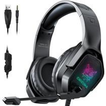 Fone Headset Gamer Onikuma X4 Profissional Led Rgb Preto -