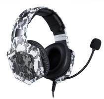Fone headset gamer p2 onikuma k8 led - camuflado cinza -