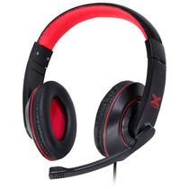 Fone headset gamer vx gaming v blade ii usb com microfone retrátil e ajuste de haste preto com vermelho - gh200 - VINIK