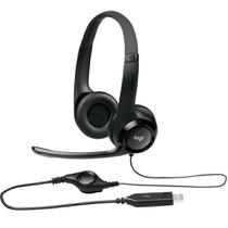 Fone Headset Logitech áudio digital Stereo USB Preto H390 -